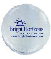 "18"" Bright Horizons Promotional White Balloon"