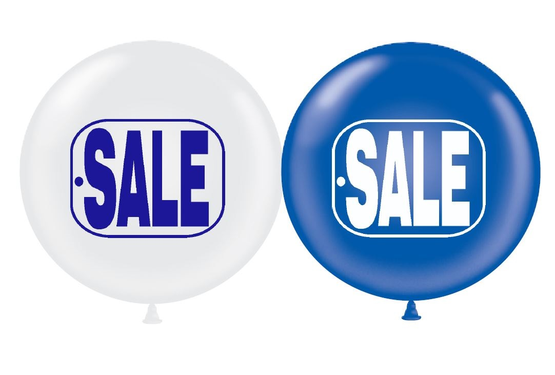 "17"" Sale Tag (Blue & White)"