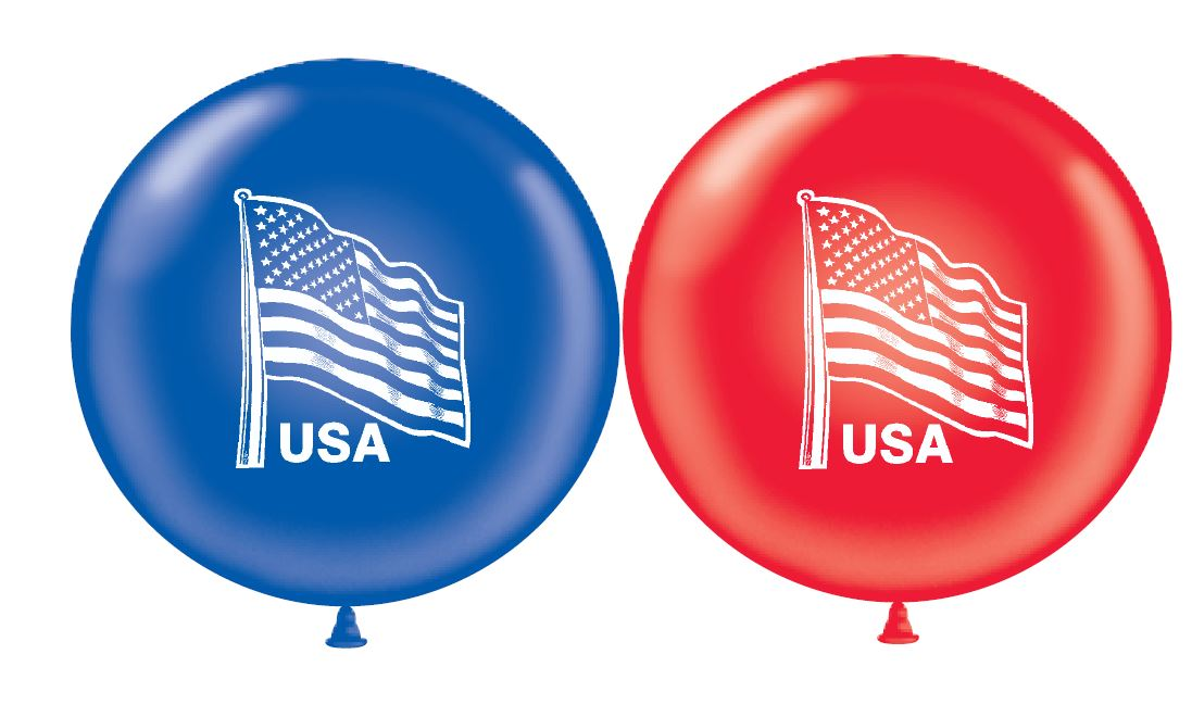 """17"""" American Flag (Sapphire Blue, Red)"""