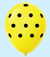 """11"""" Polka Dots Latex Balloons 25 Count Yellow"""
