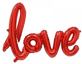 "40"" Airfill Only Love Script - Red Script Word"