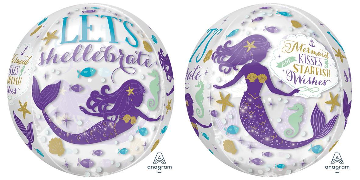 "16"" Orbz Mermaid Wishes Foil Balloon"