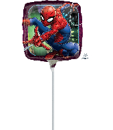 """9"""" Airfill Only Spider-Man Animated Foil Balloon"""