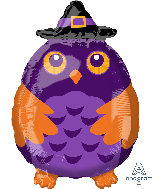 """18"""" Witchy Owl Foil Balloon"""