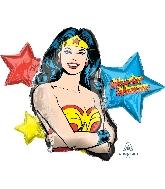 """33"""" Wonder Woman Foil Balloon"""