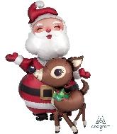 """48"""" Santa And Reindeer Walkers Foil Balloon"""