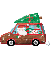 "18"" Holiday Station Wagon Foil Balloon"