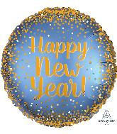 "18"" Gold & Satin New Year Foil Balloon"