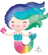 "30"" Colorful Mermaid Foil Balloon"