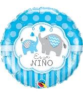 """18"""" Es Un Niño - Elephants Foil Balloon"""