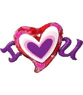 "46"" I Heart You Foil Balloon"