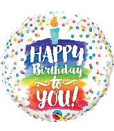"18"" Birthday Rainbow Cake Foil Balloon"