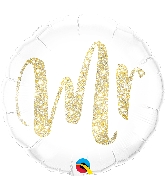 "18"" Mr Gold Foil Balloon"