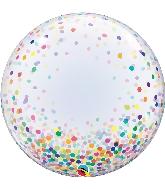 """24"""" Deco Confetti Dots Bubble Balloon"""
