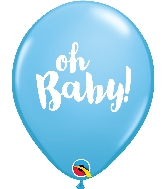 """11"""" Pastel Blue Oh Baby Latex Balloons"""