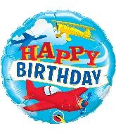 "18"" Birthday Airplane Foil Balloon"