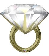 "37"" Diamond Ring Foil Balloon"
