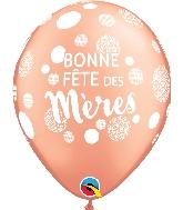 """11"""" Bonne Fête Des Mères Pois Latex Balloons 50 Count"""