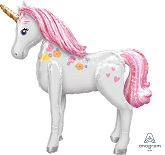 "46"" Airwalker Magical Unicorn Balloon Packaged"