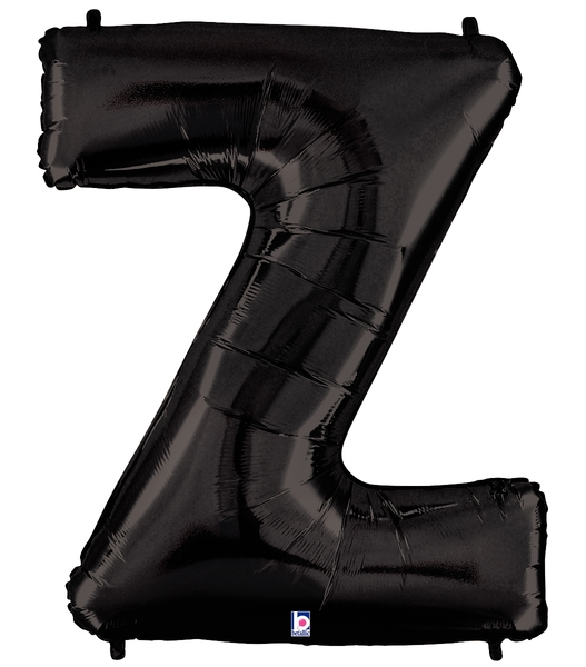 "40"" Large Foil Letter Shape Balloon Z Black"