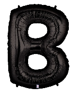 "40"" Large Foil Letter Shape Balloon B Black"