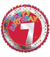 "18"" Children's Milestone ""7"" Happy Birthday Foil Balloon"
