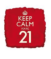 """18"""" Keep Calm """"21"""" Foil Balloon"""
