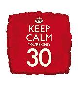 """18"""" Keep Calm """"30"""" Foil Balloon"""