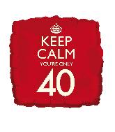 """18"""" Keep Calm """"40"""" Foil Balloon"""