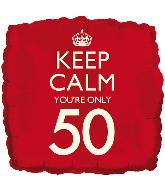 """18"""" Keep Calm """"50"""" Foil Balloon"""