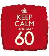 """18"""" Keep Calm """"60"""" Foil Balloon"""