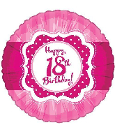 "18"" Perfect Pink ""18"" Happy Birthday Foil Balloon"