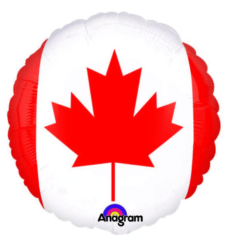 "18"" Canada Flag Mylar Balloon"