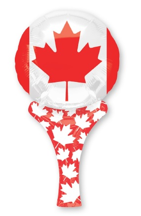 """12"""" Airfill Only Inflate-A-Fun Canada Flag Mylar Balloon"""