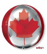 "16"" Orbz Canada Flag Mylar Balloon"