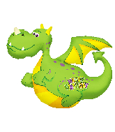 "36"" Birthday Dragon Shape Foil Balloon"