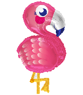 "28"" Flamingo Shape Foil Balloon"