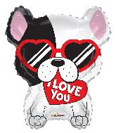 """18"""" Love Dog Shape Foil Balloon"""