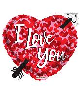 """18"""" Love Arrow Shape Foil Balloon"""