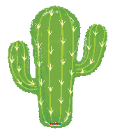 "28"" Cactus Shape Gellibean Foil Balloon"