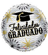 "9"" Felicidades Graduado Estrellas Foil Balloon"
