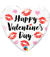 "18"" Heart Valentine's Kissey Lips Foil Balloon"