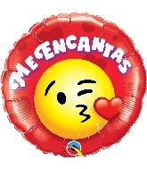 """18"""" Round Me Encantas Smiley Foil Balloon"""
