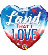 "18"" Heart Land That I Love Foil Balloon"