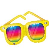 "42"" Rainbow Striped Sunglasses Foil Balloon"