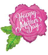 "36"" Happy Mother's Day Rose Shape Foil Balloon"