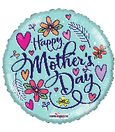 """18"""" Happy Mother's Day Hearts Foil Balloon"""