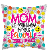 "18"" Mom Smilies Hollographic Foil Balloon"