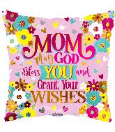 "18"" Mom God Bless You Foil Balloon"