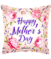 """18"""" Happy Mother's Day Classic Flowers Foil Balloon"""